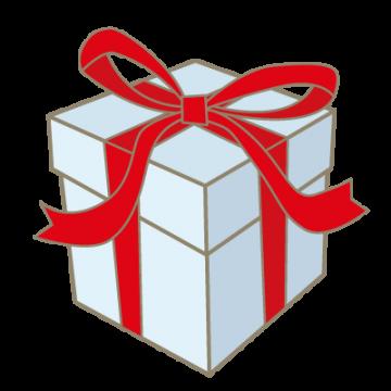 リボンの付いたプレゼント箱
