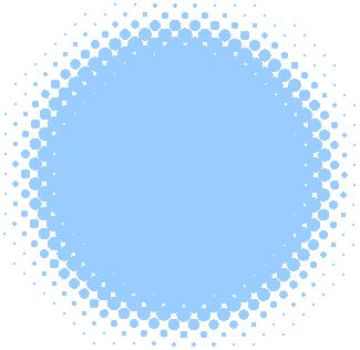 円形アシッドアイコン(青)