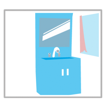 洗面台のイラスト
