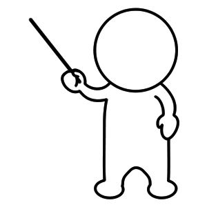 人型オブジェクト 説明5  コメント|Comment 説明してる状態を表している人型ウェブオブジ