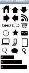 スマートフォンサイト ボタン/アイコンセット 8