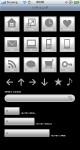 スマートフォンサイト ボタン/アイコンセット 1