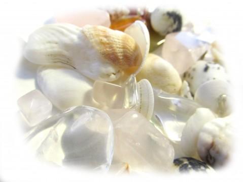 貝殻と天然石