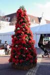 屋外のクリスマスツリー