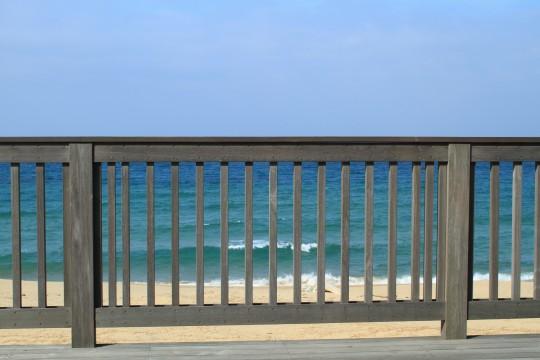 海辺のテラス