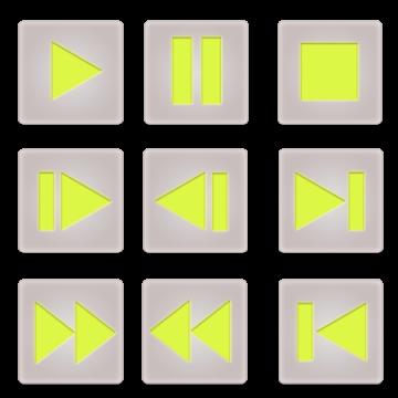 ビデオコントロールボタンセット(角)2