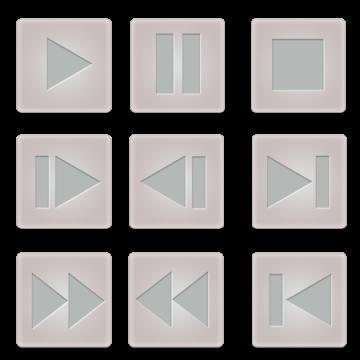 ビデオコントロールボタンセット(角)