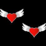 羽のあるハート1