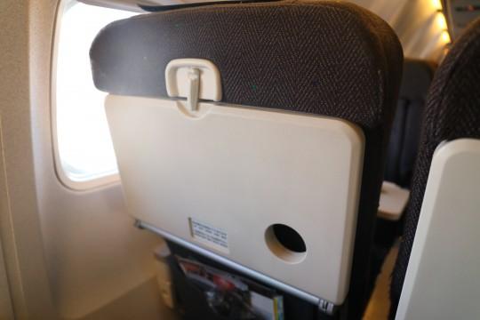 飛行機の座席テーブル
